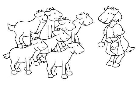 I sette capretti associazione di volontariato l - Immagini da colorare capra ...